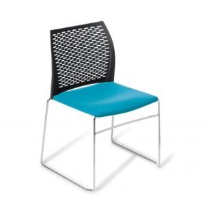 Net Chair Sled Upholstered