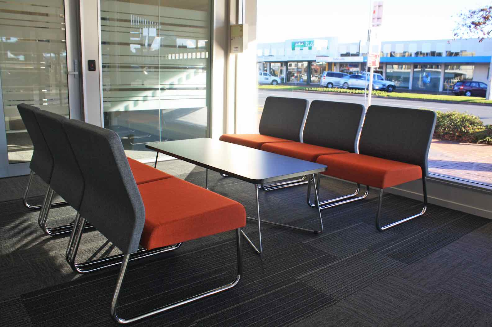 Worksafe Waiting Area-shared office fit out Rotorua